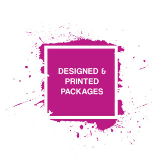 DESIGNED AND PRINTED PRODUCT PACKAGES
